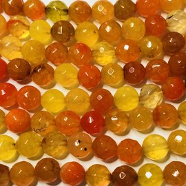 AGATE Flame Orange 8mm Faceted