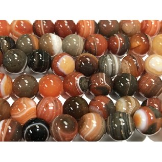 BRAZILIAN Agate Natural 8mm Round