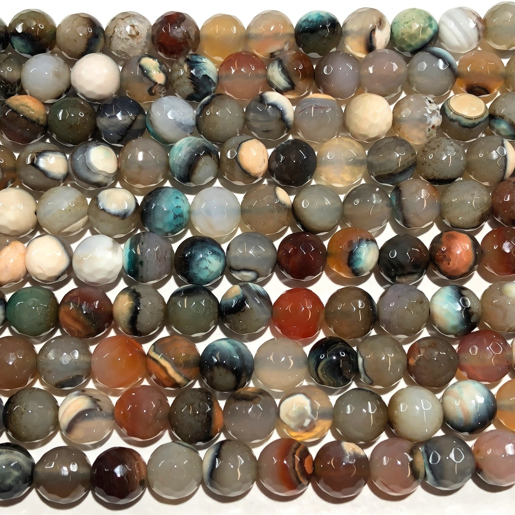 AGATE Natural Colours 8mm Faceted