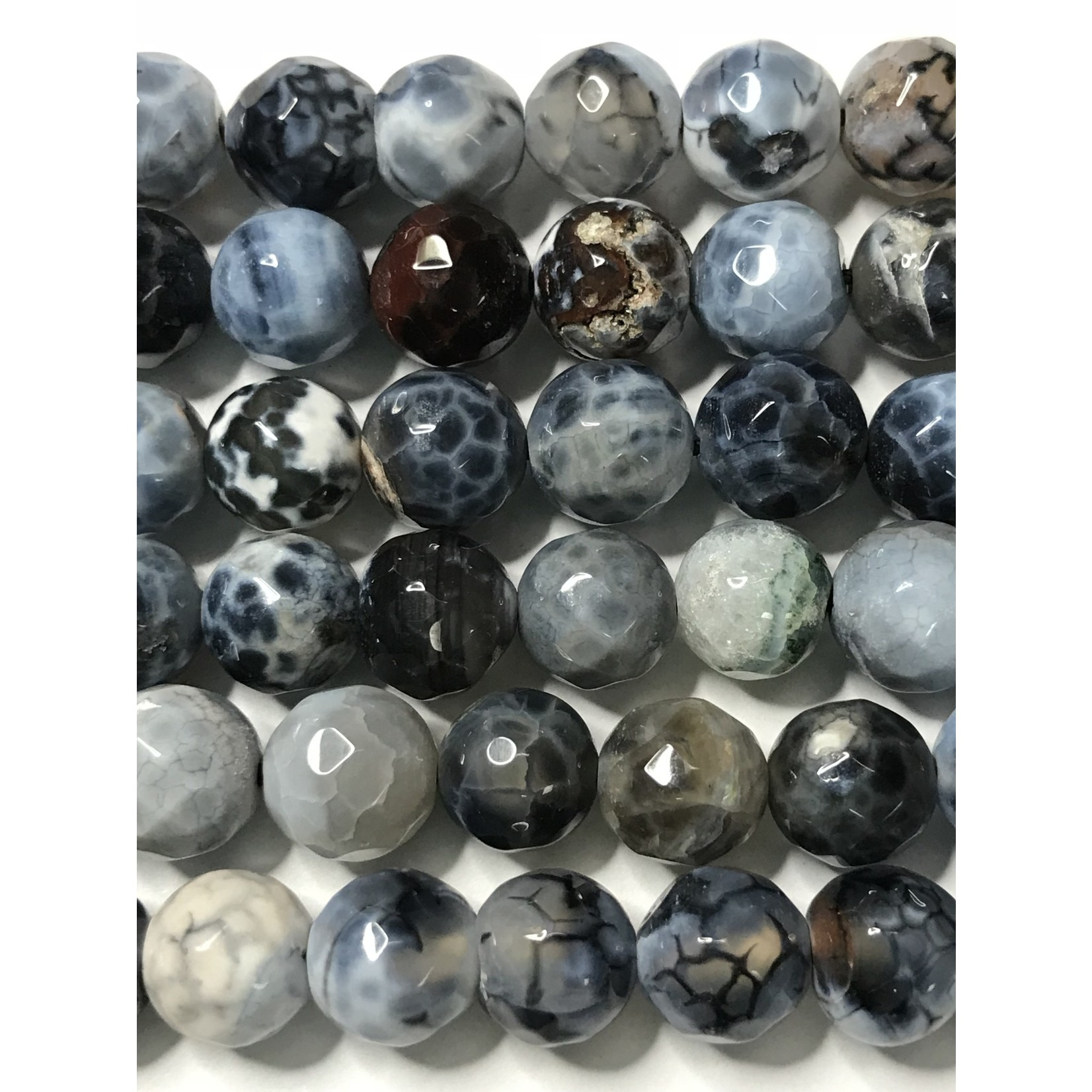 AGATE Spring Colours - Denim Blue 8mm Faceted
