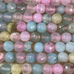 Natural Fire AGATE Dyed Pastels 8mm Faceted