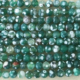 AGATE Frosted Dyed Green 8mm Round