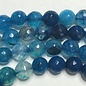 AGATE Spring Colours - Deep Blue 8mm Faceted