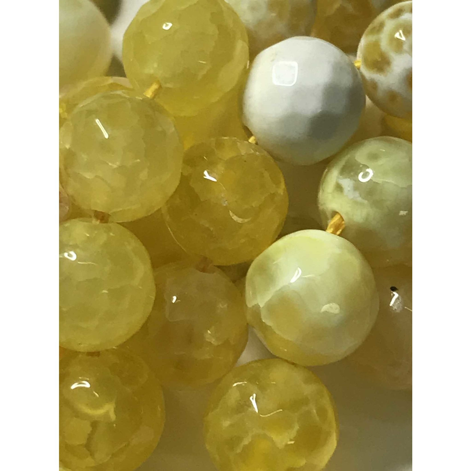 AGATE Spring Colours - Lemon Yellow 8mm Faceted