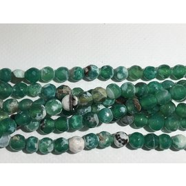 AGATE Faceted Beads Green/White 8mm