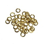 Gold Plated Jump Rings 6mm OD 100pcs