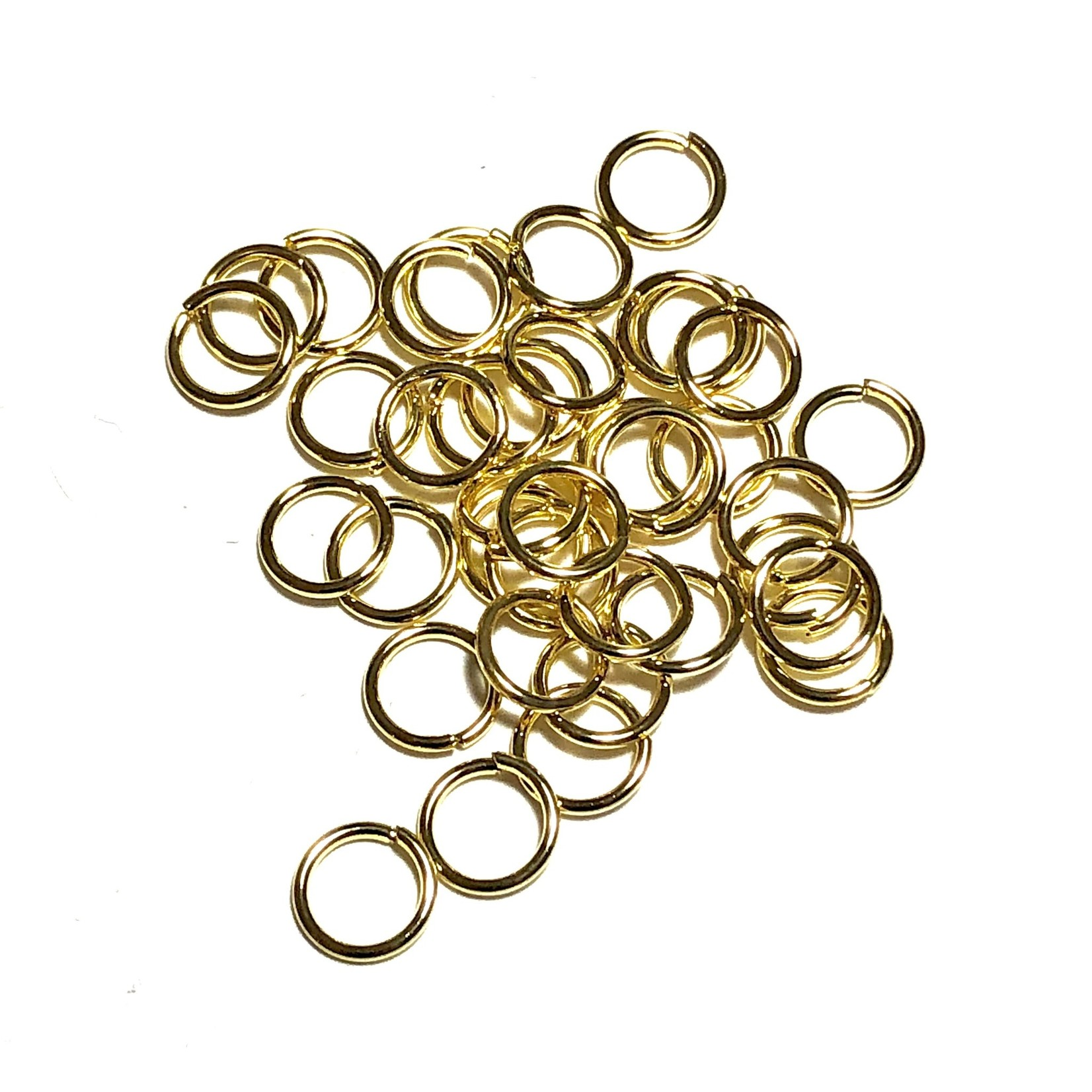 Gold Plated Jump Rings 8mm OD 60pcs