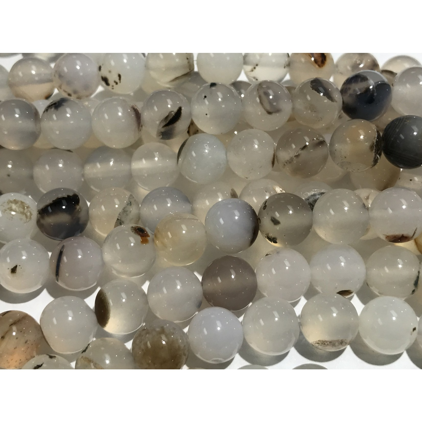 AGATE Shadow Natural 8mm Round