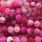 AGATE Banded Dyed Hot Pink 8mm Round