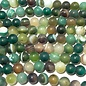 Banded AGATE Frosted Forest Green 8mm Round