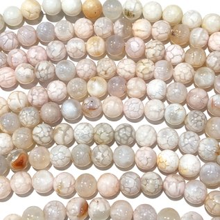 Cracked AGATE Soft Pastels 8mm Round