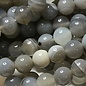 Banded Agate Natural Grey 8mm Round