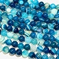 AGATE Spring Colours - Bright Blue 8mm Round