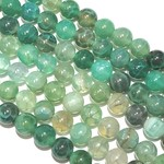 Natural Cracked AGATE Dyed Green 8mm Round
