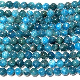 Natural Blue Apatite Grade A 8mm Round