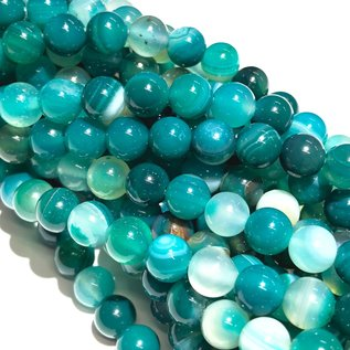 Banded Agate Dyed Ocean 6mm Round