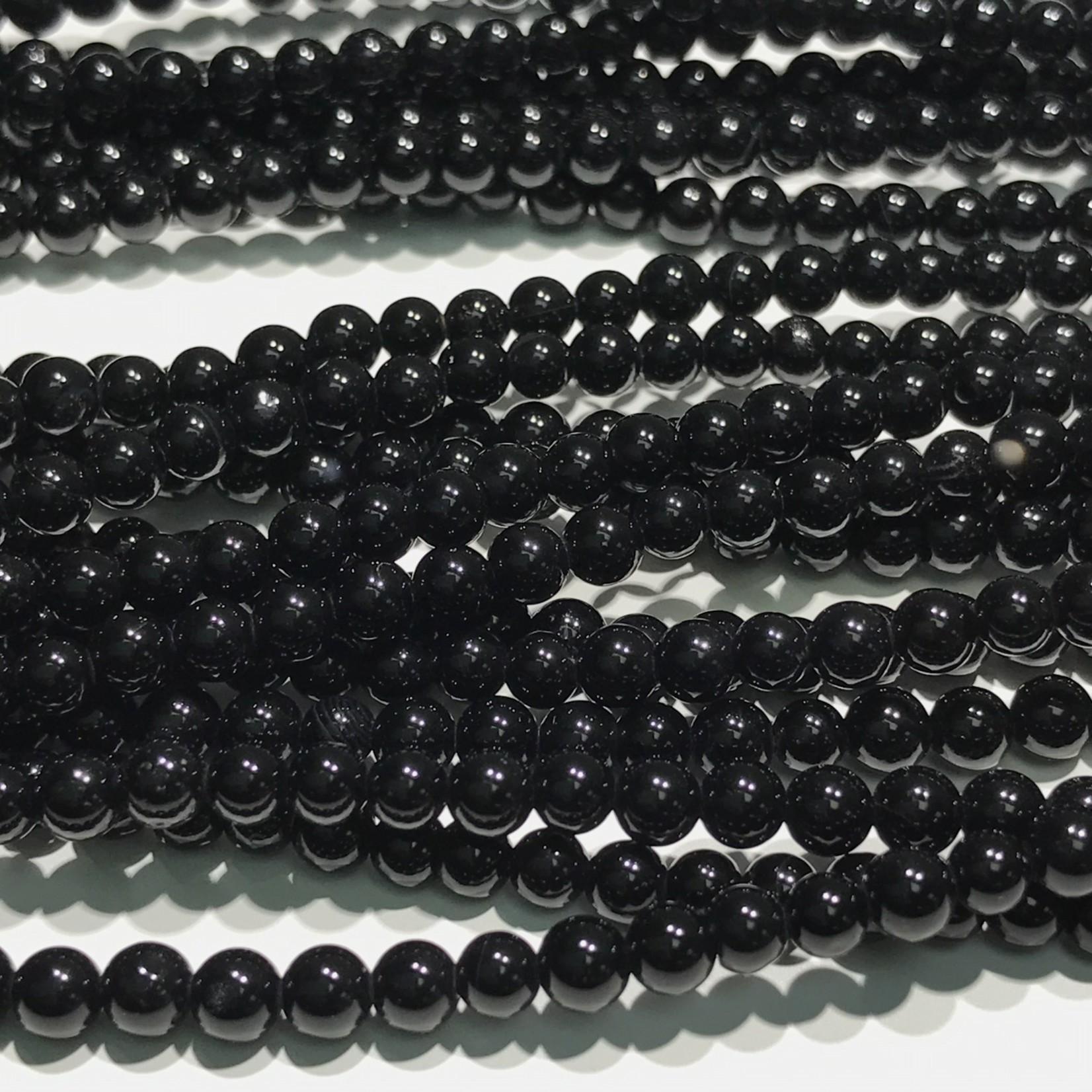 Black AGATE 6mm Round