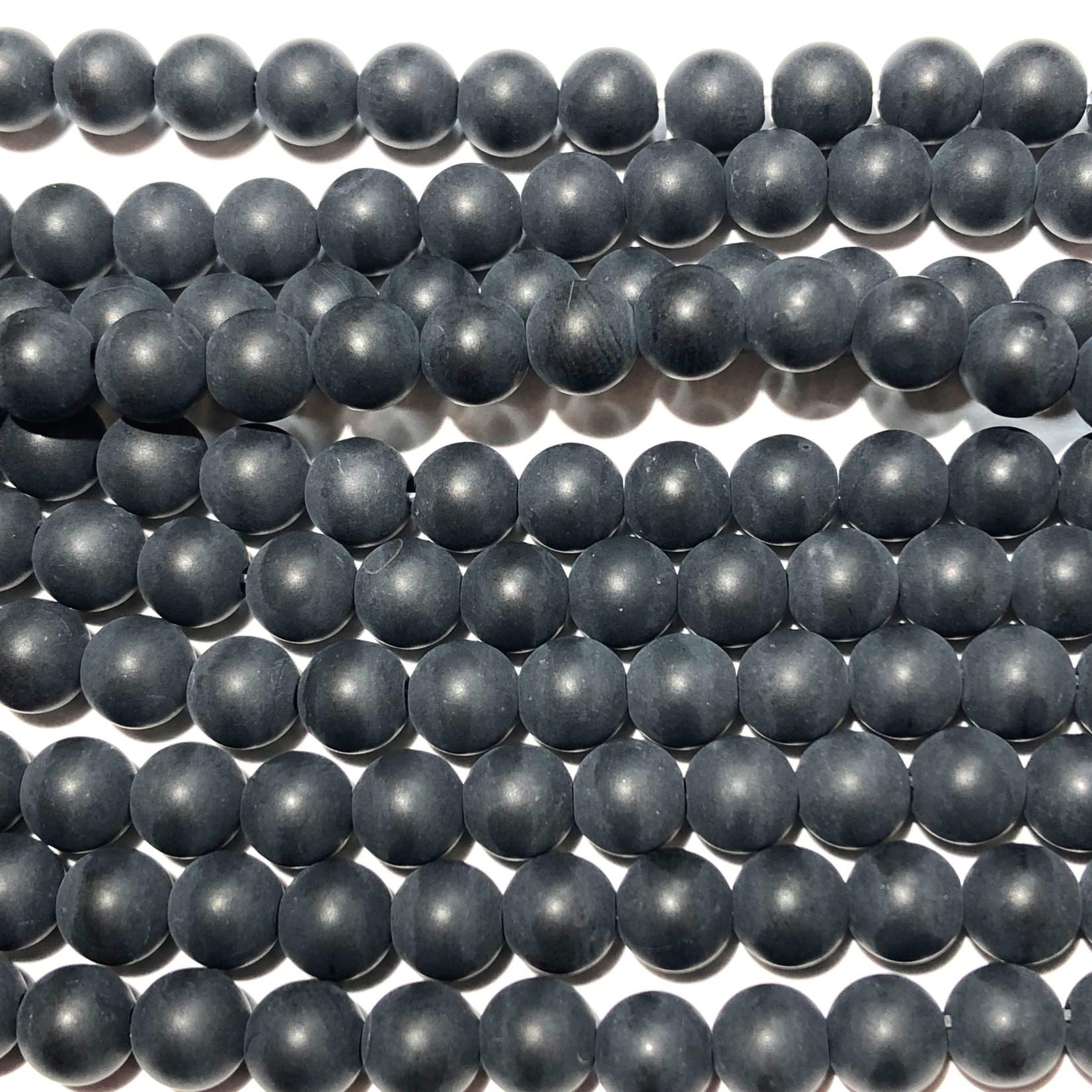 Black AGATE Matte 6mm Round