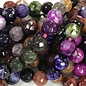 Dyed Fire AGATE Dark Multi-Colour 6mm Faceted