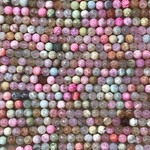 Dyed Fire AGATE Pastel Colours 6mm Faceted