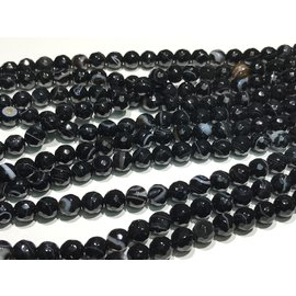 AGATE Black Madagascar 6mm Faceted