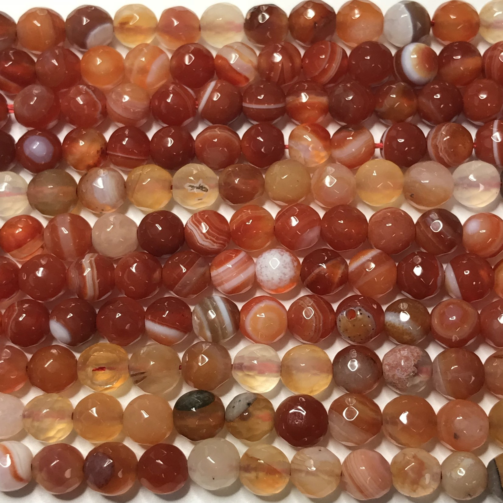 AGATE Tomato Red 6mm Faceted