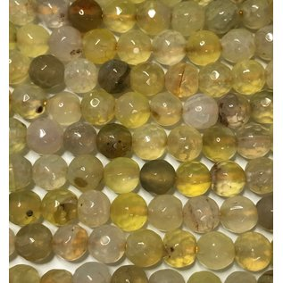 Cracked AGATE Dyed Champagne 6mm Faceted