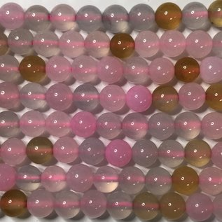 AGATE Spring Colours Baby Pink 6mm Round
