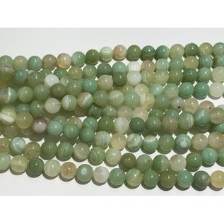 Banded AGATE Dyed Lime Green 6mm Round
