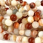 Banded AGATE Natural Red 6mm Round