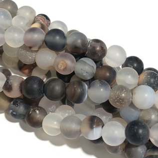 AGATE Frosted Natural 6mm Round