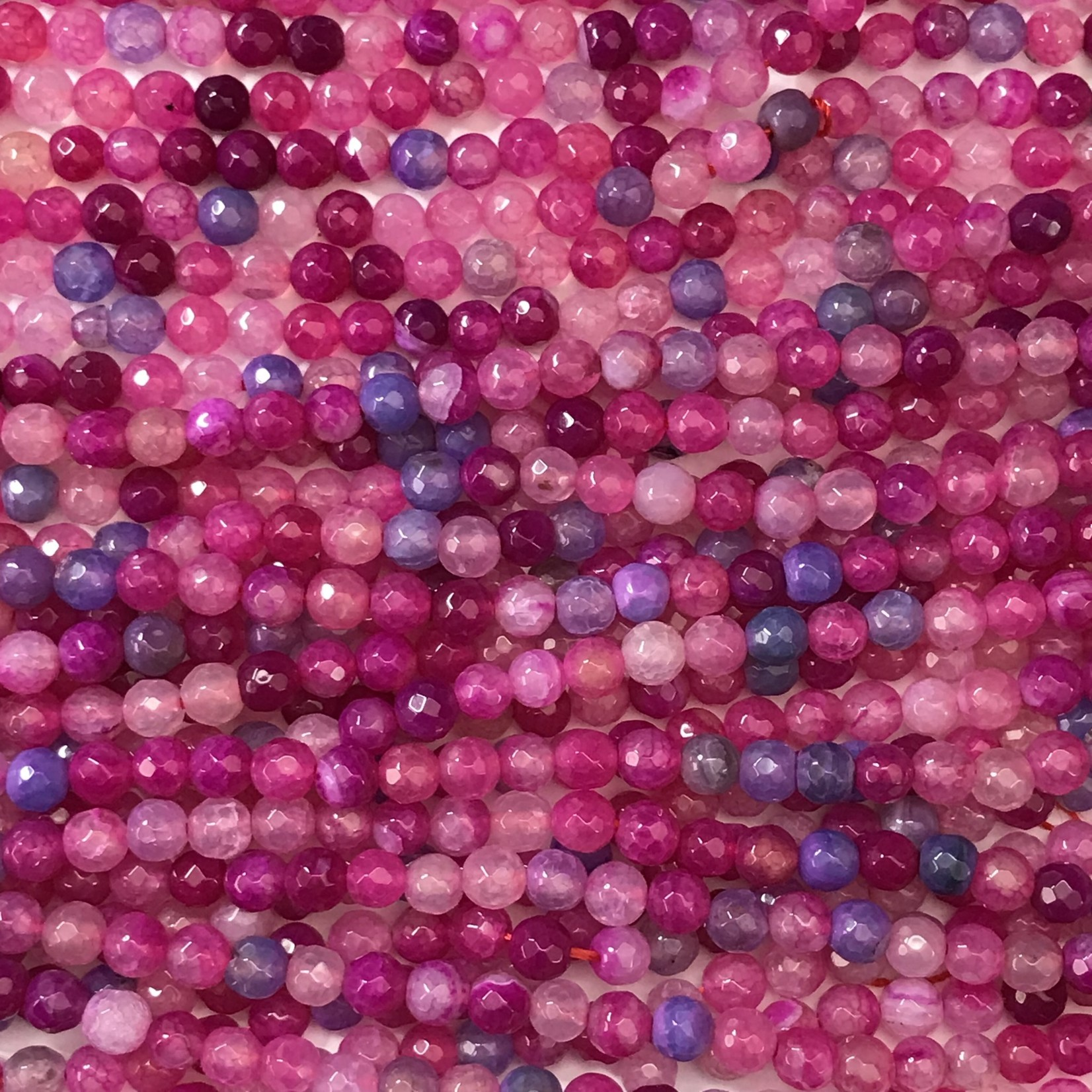 Fire AGATE Dyed Hot Pink/Purple 6mm Faceted