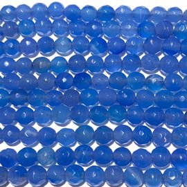 AGATE Denim Blue 6mm Faceted