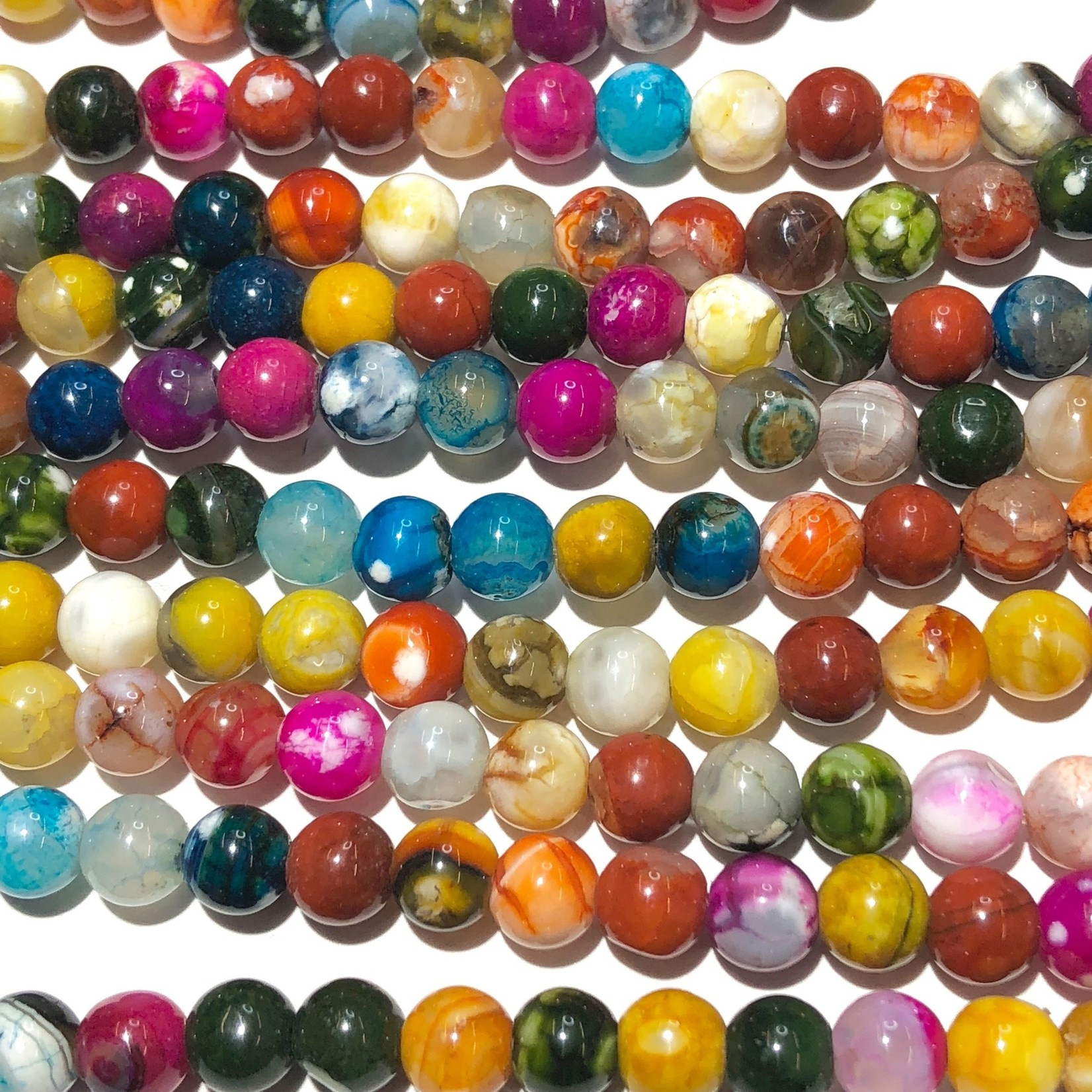 Cracked AGATE Mixed Colours 6mm Faceted