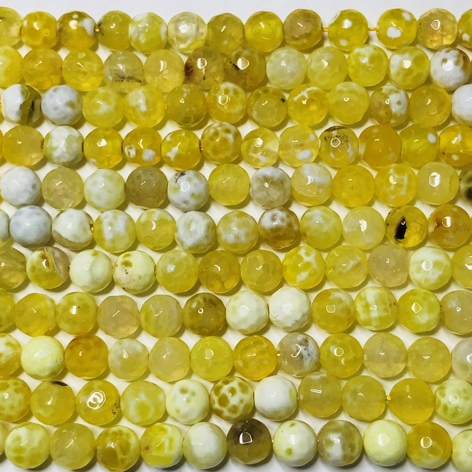 AGATE Spring Colours Lemon Yellow 6mm Faceted