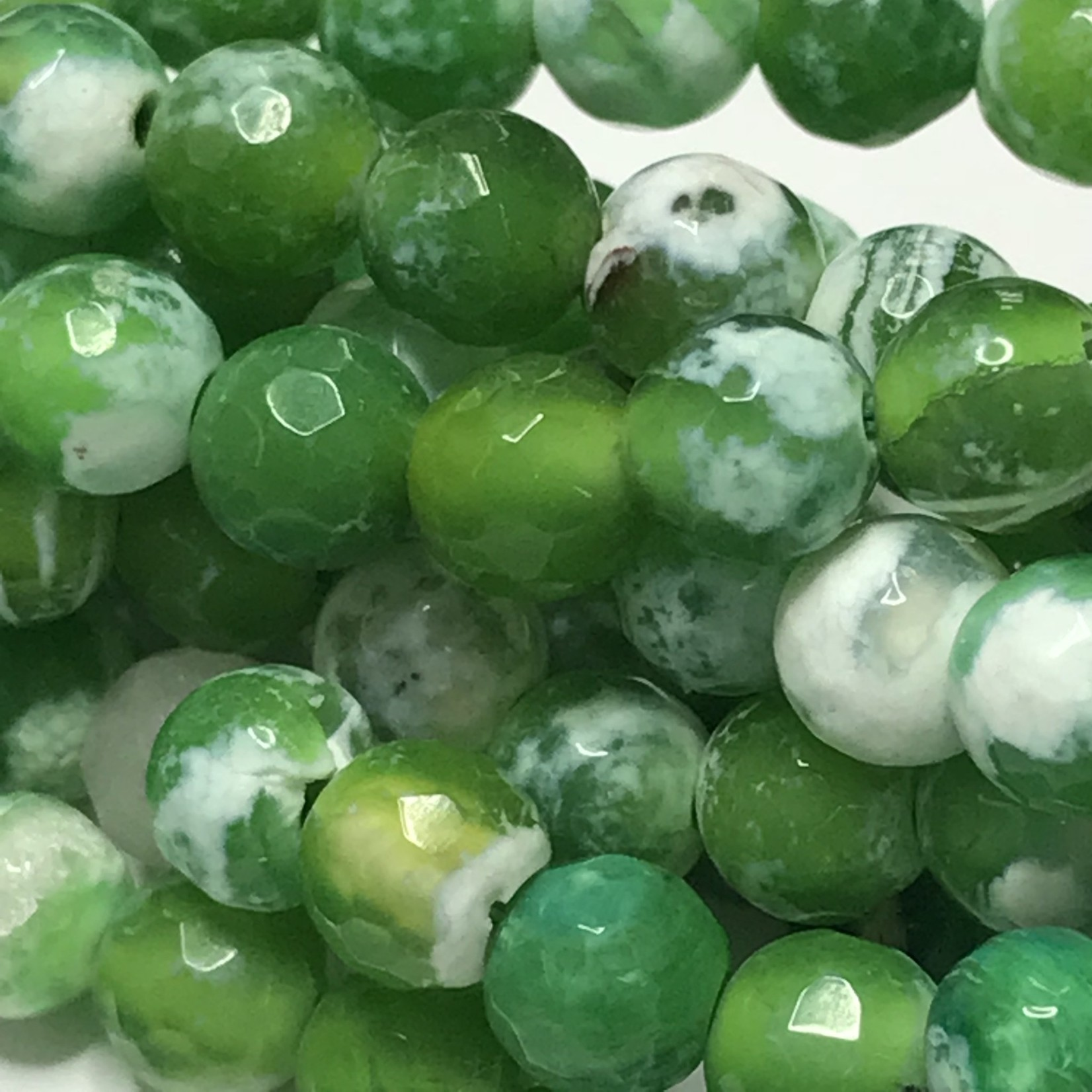 AGATE Lime Green 6mm Faceted