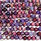 Cracked AGATE Dyed Purple Berries 6mm Faceted