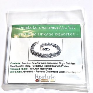 Chain Maille Jens Pind Linkage (JPL) Bracelet Kit