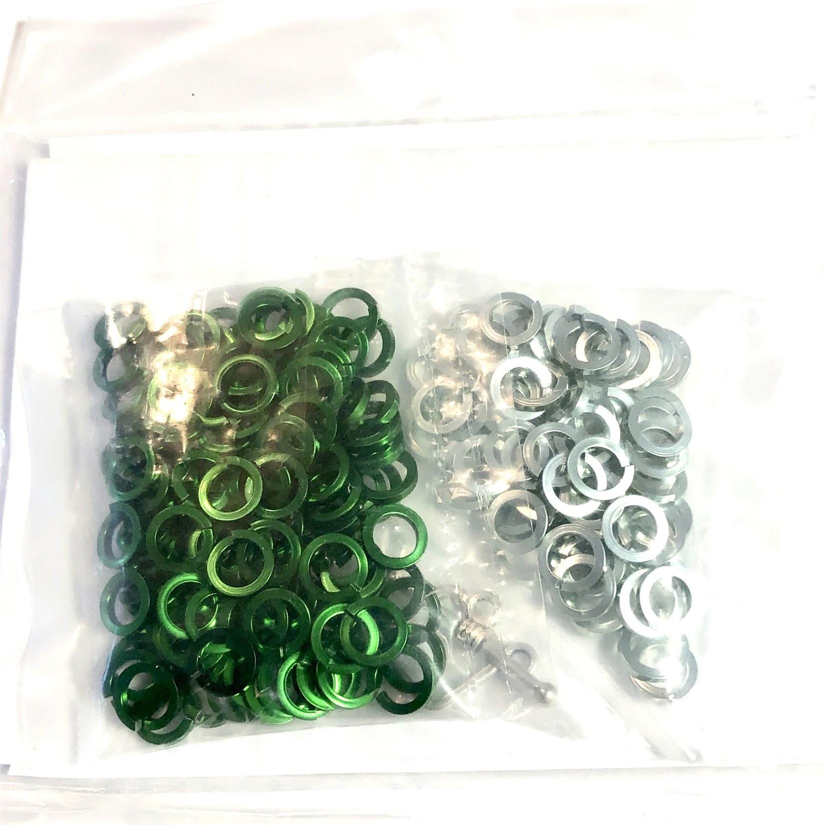 Chain Maille Sq Byzantine Bracelet Kit Green & Seafoam