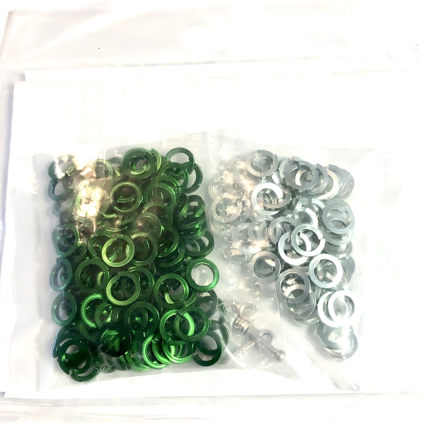 Hyperlinks Chain Maille Sq Byzantine Bracelet Kit Green & Seafoam