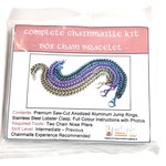 Chain Maille Box Chain Bracelet Kit Black & Turquoise
