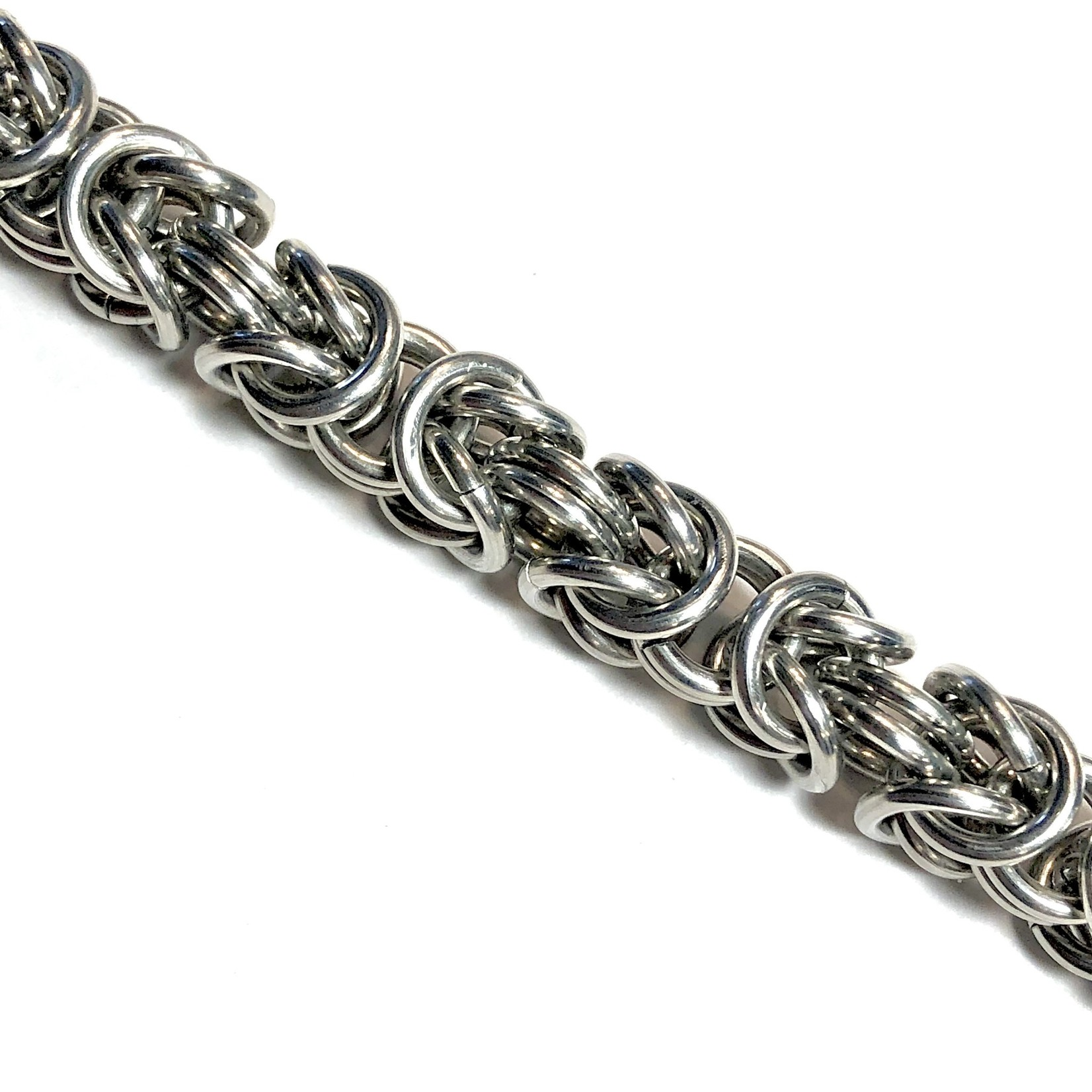 Hyperlinks Chain Maille Lg Byzantine Necklace Kit (Bright Alum)