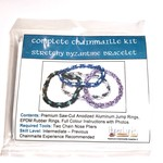Hyperlinks Chain Maille Byzantine Stretchy Bracelet Kit Black & Teal