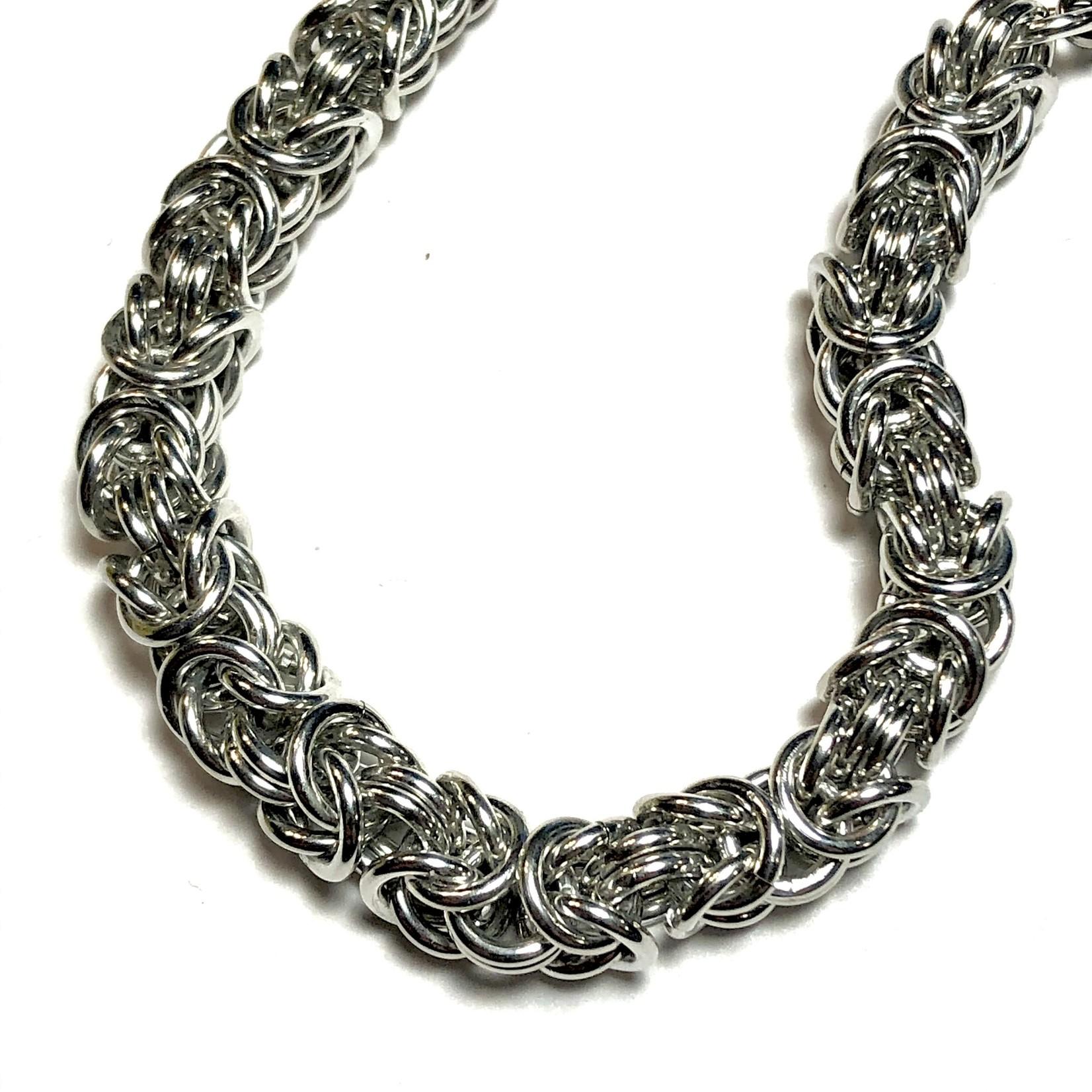 Hyperlinks Chain Maille Byzantine Bracelet Kit (Bright Alum)