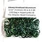 """Anodized Aluminum Rings Green 18ga 3/16"""" 100pcs"""