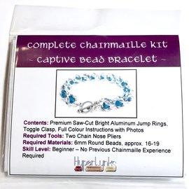 Chain Maille 6mm Captive Bead Bracelet Kit
