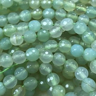 AGATE Natural Dyed Spring Green 6mm Faceted