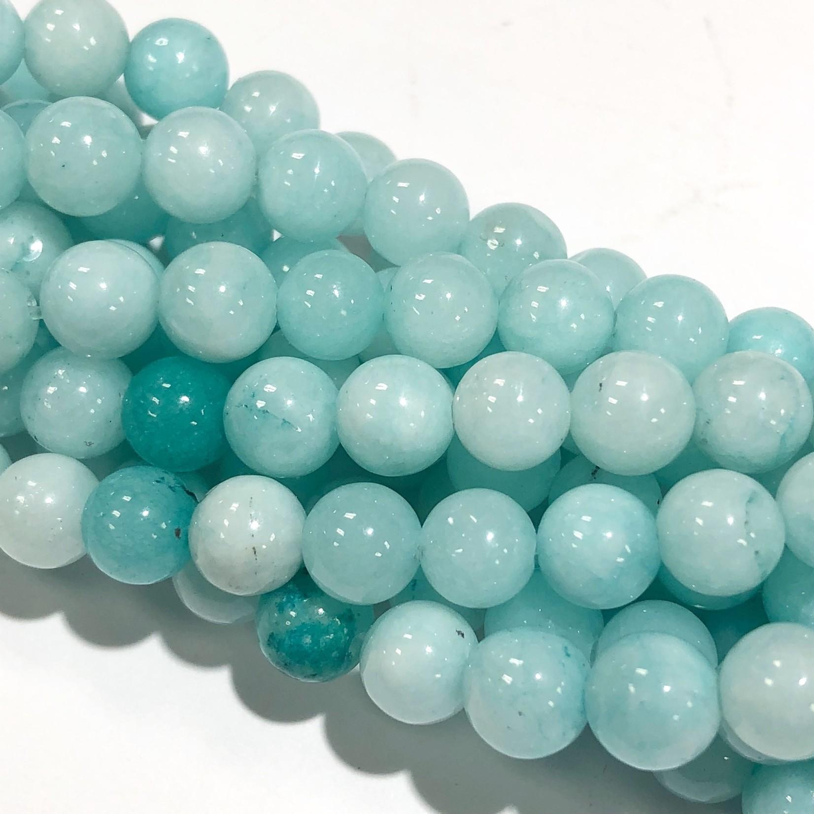 Common Jade Seafoam Blue 6mm Round