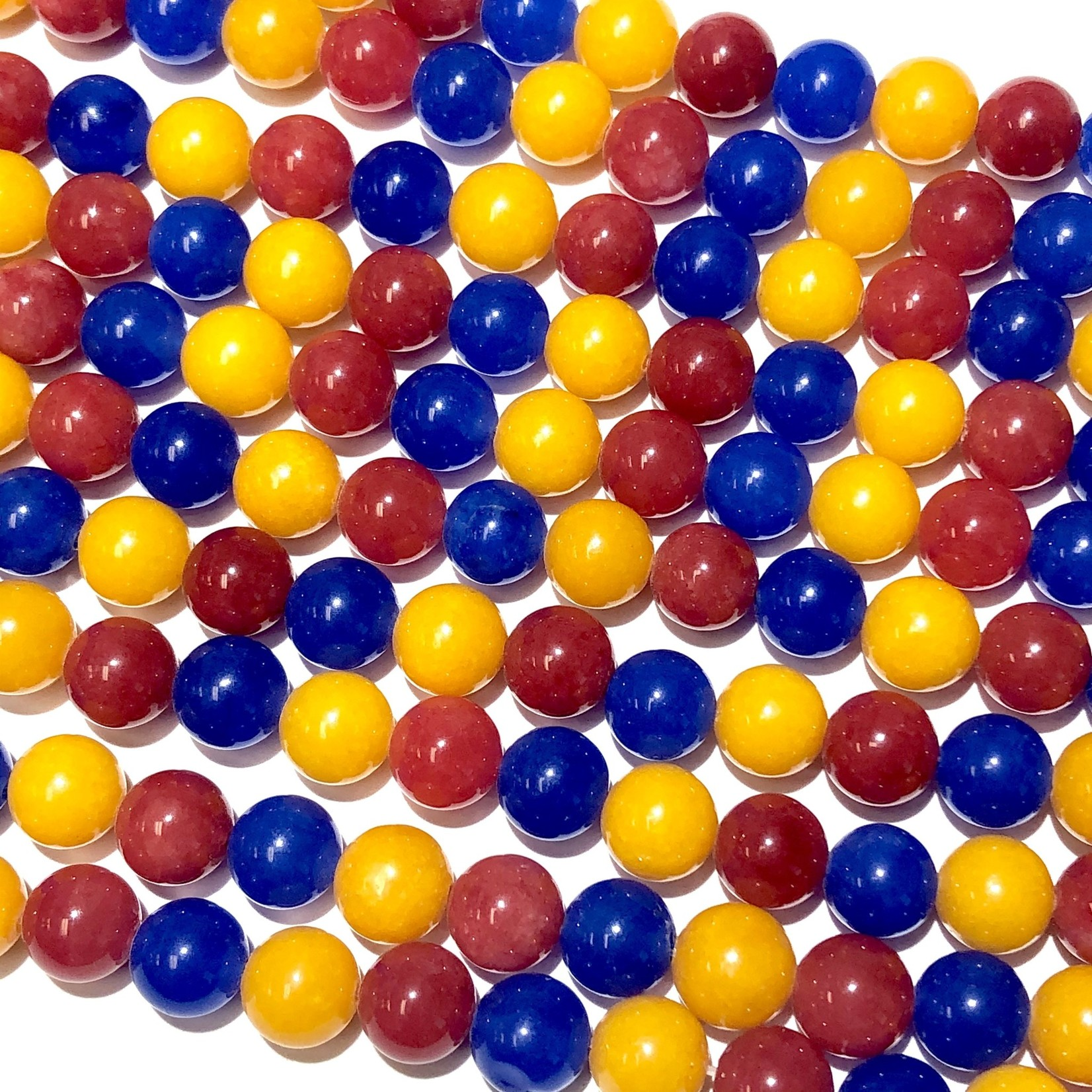 Candy JADE Tri-Colour Mix 8mm Round