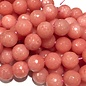 MALAYSIA JADE Dyed Pink Coral 10mm Faceted